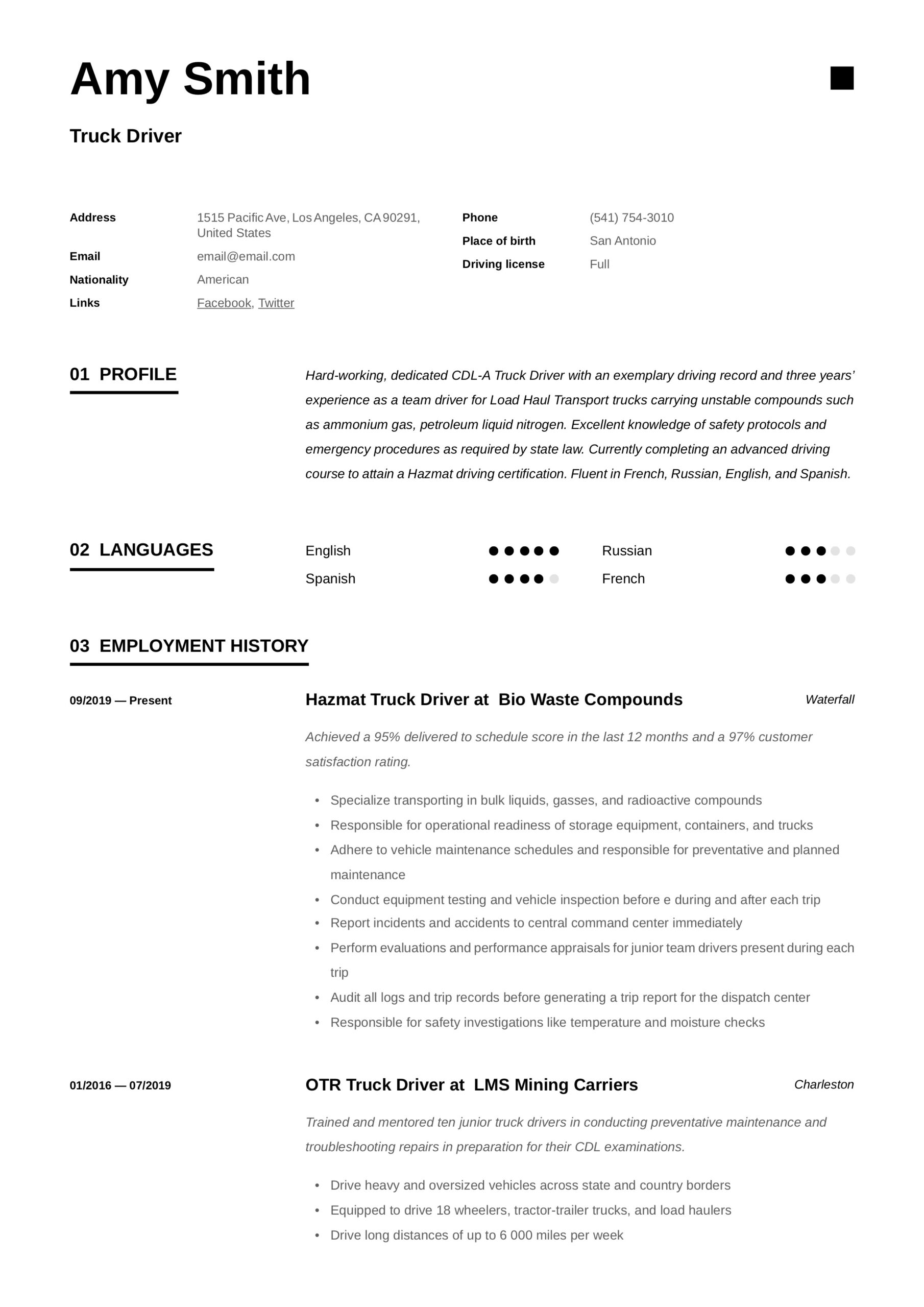 truck driver resume writing guide examples otr project management buzzwords for interior Resume Otr Truck Driver Resume