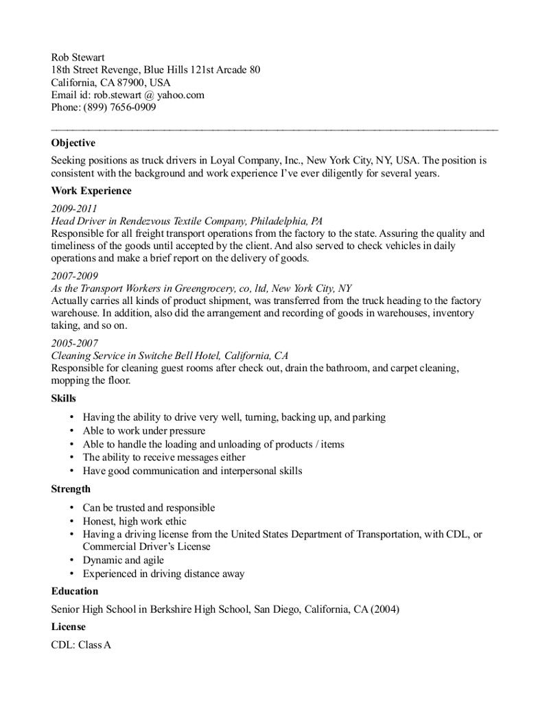 truck driving resume template free templates examples for cdl driver aicpa social worker Resume Resume Template For Cdl Truck Driver