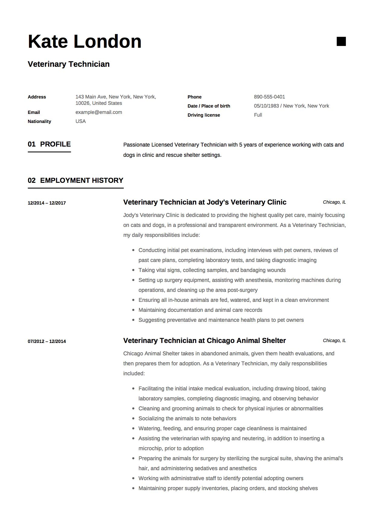 veterinary technician resume sample medical template optometric assistant kaise banana Resume Veterinary Technician Resume Sample