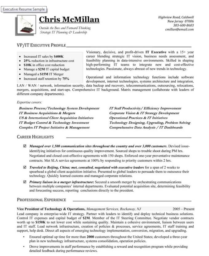 vice president of technology operations career steering premium executive resume writing Resume Executive Vice President Resume Examples