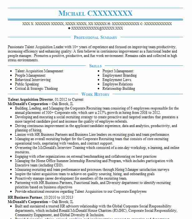 vp talent acquisition director resume example rowe towson acting template bsc nursing Resume Talent Acquisition Resume