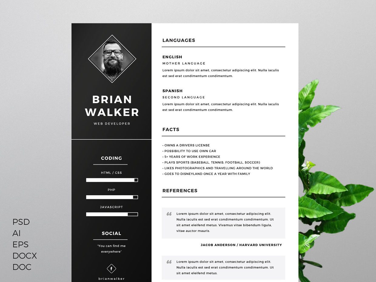 well designed resume examples for your inspiration templates free template by mats peter Resume Well Designed Resume Templates