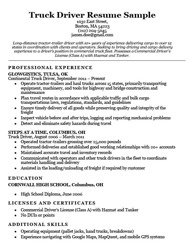 with cdl truck driver resume format ats sample home health aide objective samples best Resume Cdl Class A Resume