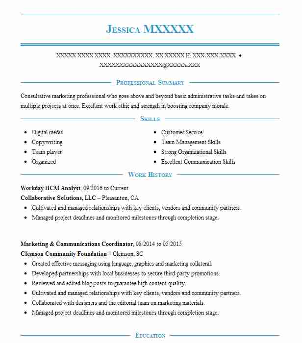 workday hcm consultant resume example company name north carolina template spanish Resume Workday Resume Template