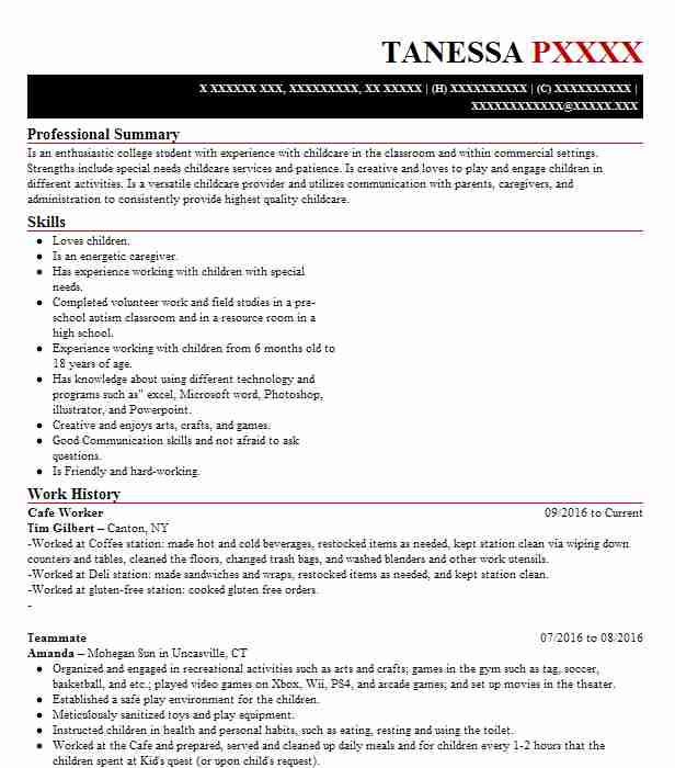 worker resume example resumes livecareer customer service hotel front desk best tips Resume Cafe Customer Service Resume