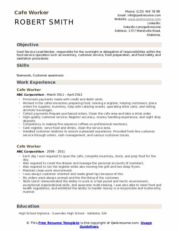 worker resume samples qwikresume customer service pdf update on linkedin batching plant Resume Cafe Customer Service Resume