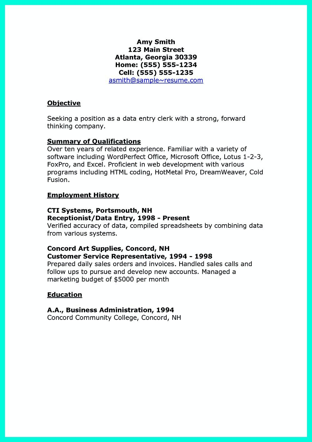 your data entry resume is the essential marketing to get job you seek includi clerk Resume Data Entry Objective Resume Sample