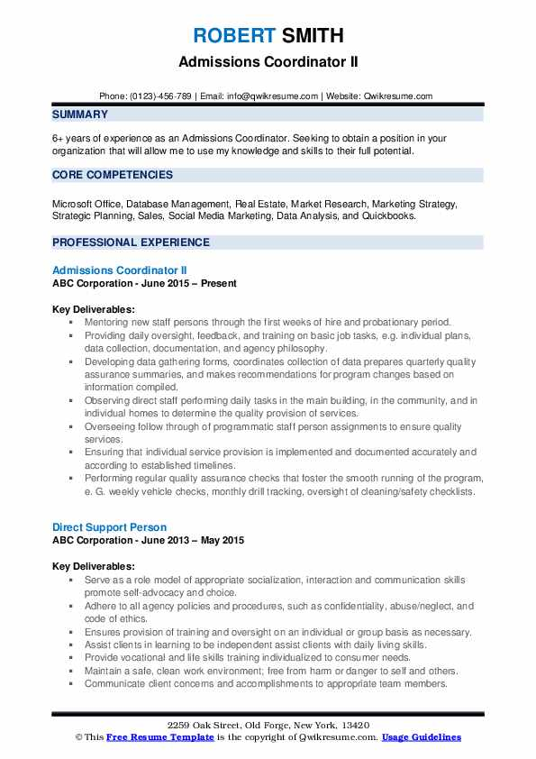 admissions coordinator resume samples qwikresume pdf support services manager images Resume Admissions Coordinator Resume
