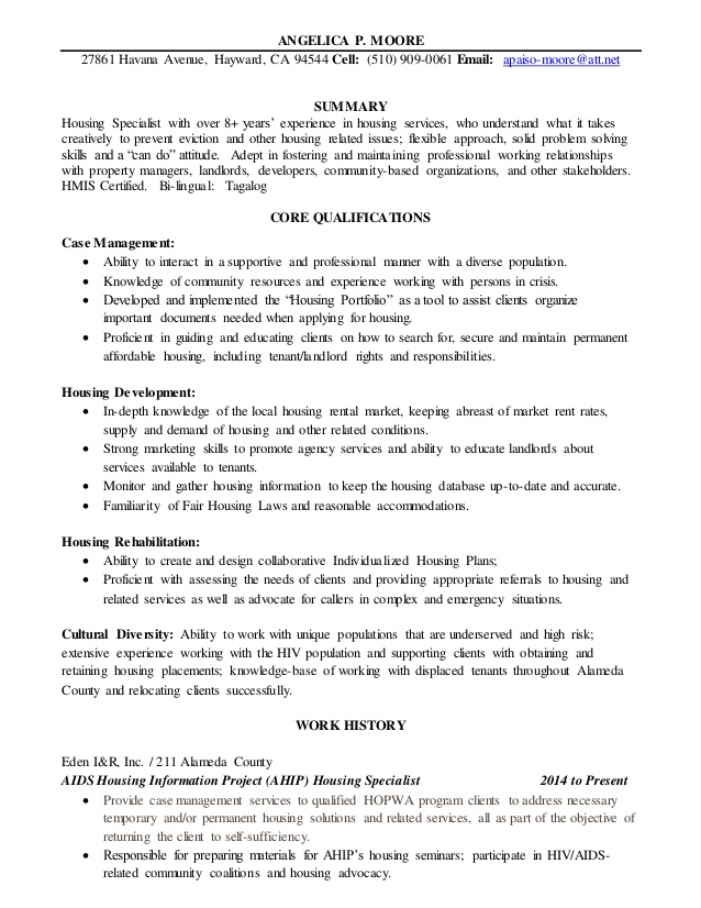 angelica resume affordable housing property manager sample for office boy simple job Resume Affordable Housing Property Manager Resume