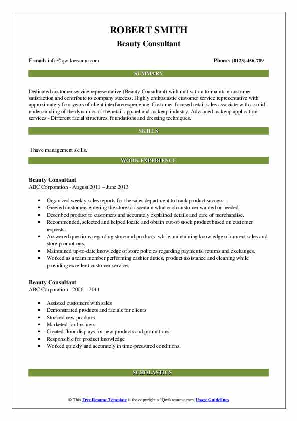 beautiful beauty advisor resume that brings you to your dream job consultant description Resume Walgreens Beauty Advisor Resume