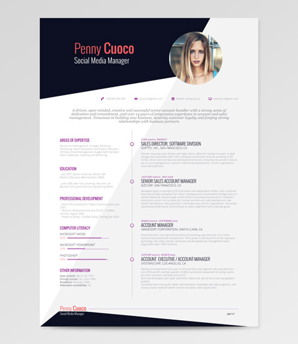 beautiful free resume cv templates in indesign formats illustrator template template2 Resume Free Resume Illustrator Template