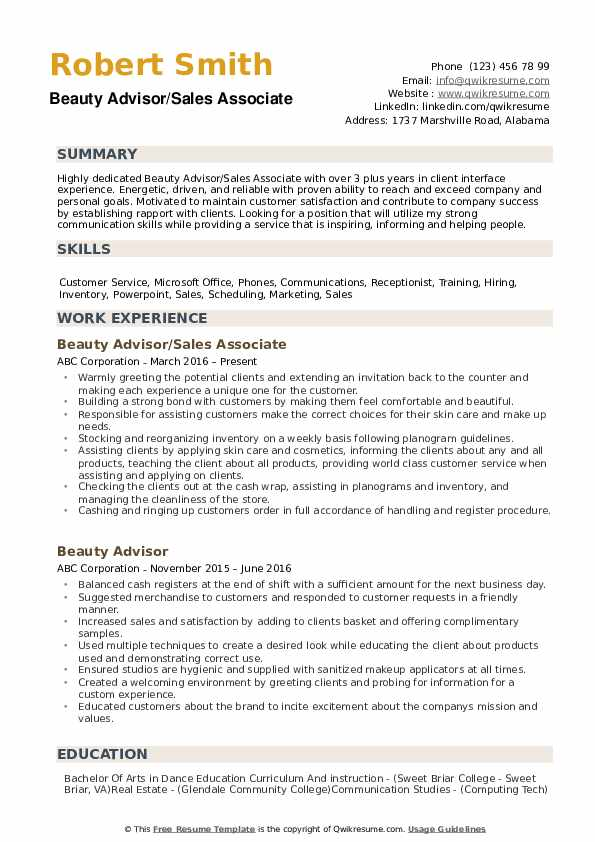 beauty advisor resume samples qwikresume walgreens pdf view examples objective for data Resume Walgreens Beauty Advisor Resume