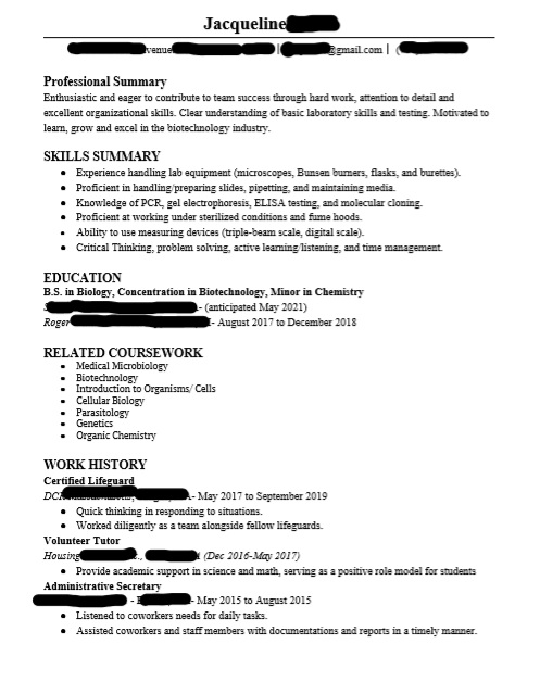 biology biotechnology resume have rearranged many times but still do not feel as if it is Resume Best Biotechnology Resume