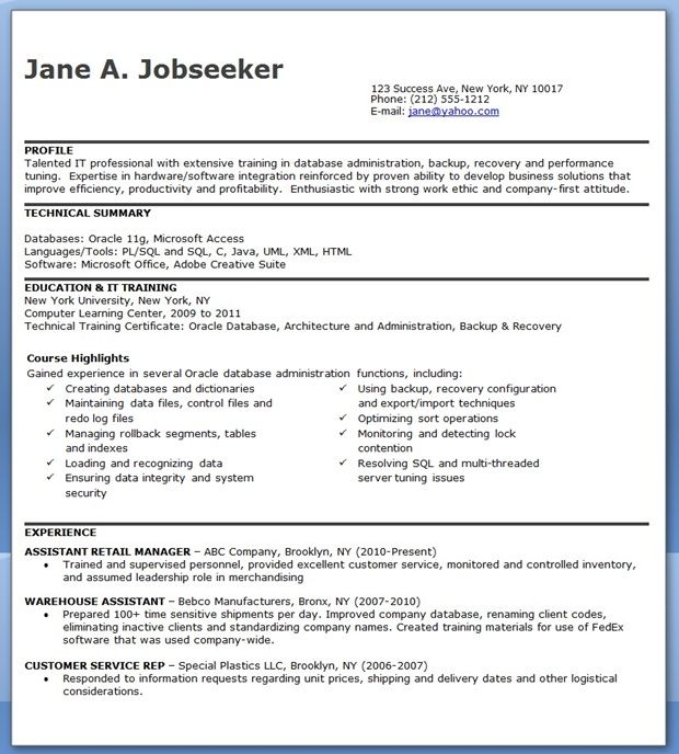 by database resume samples format software godaddy selection criteria examples creative Resume Resume Database Software