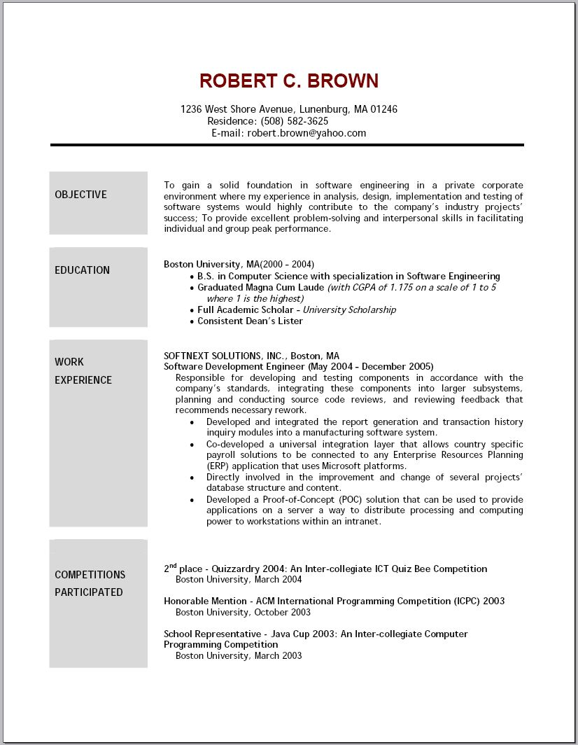 career resume template good objective for statement examples effective objectives samples Resume Effective Resume Objectives Samples