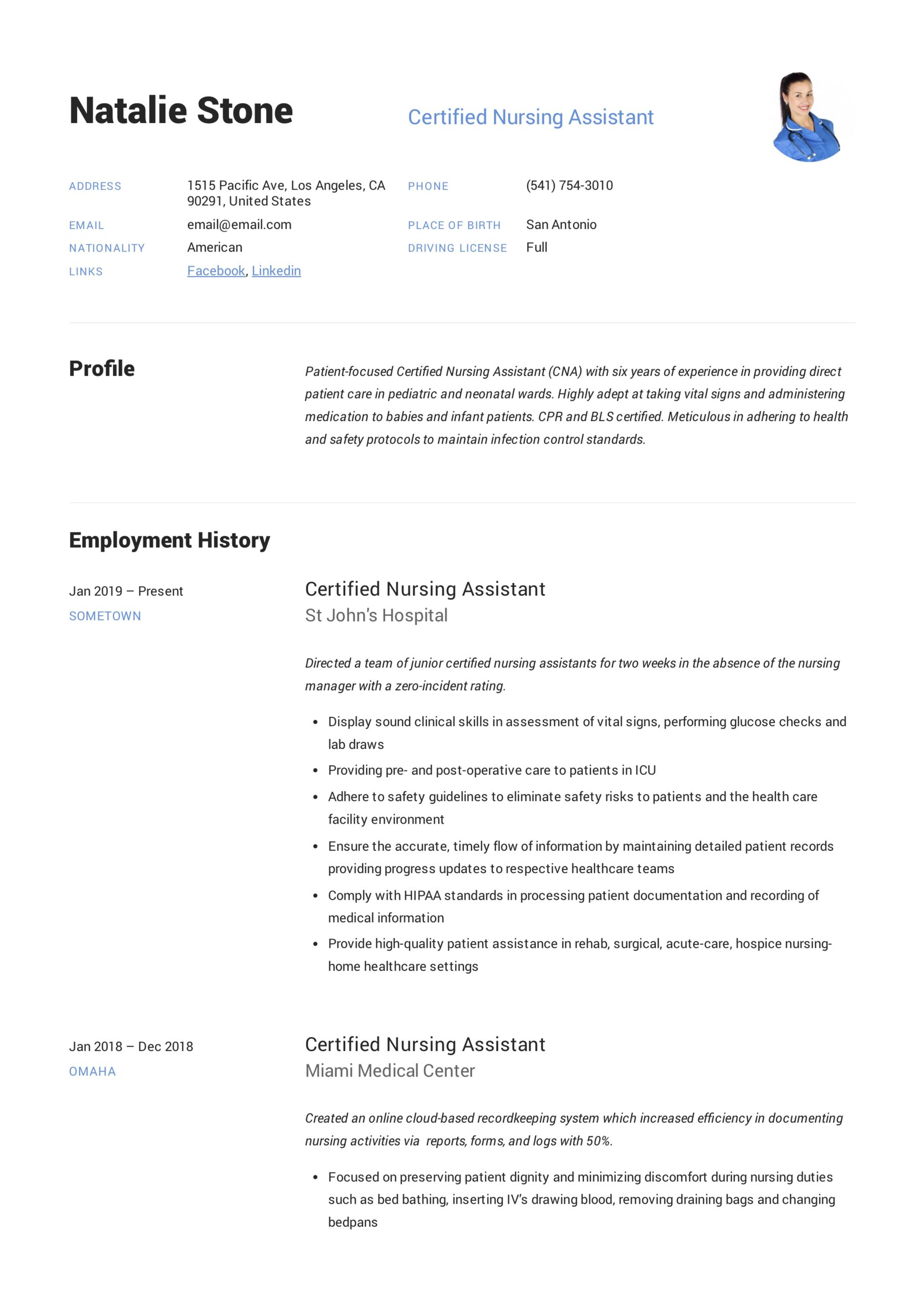 certified nursing assistant resume writing guide templates duties for police cover letter Resume Nursing Assistant Duties For Resume