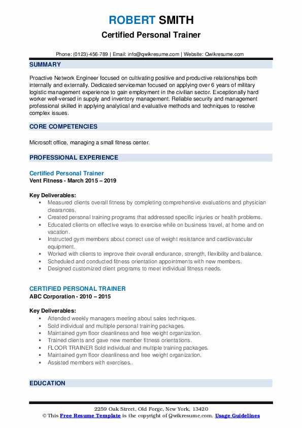 certified personal trainer resume samples qwikresume sample pdf patient administration Resume Personal Trainer Resume Sample