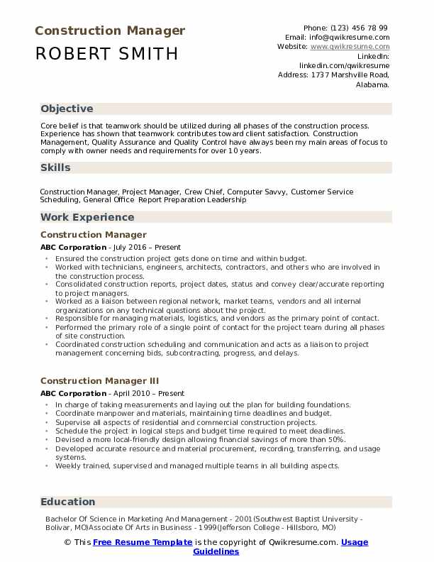 construction manager resume samples qwikresume project examples pdf standard professional Resume Construction Project Manager Resume Examples
