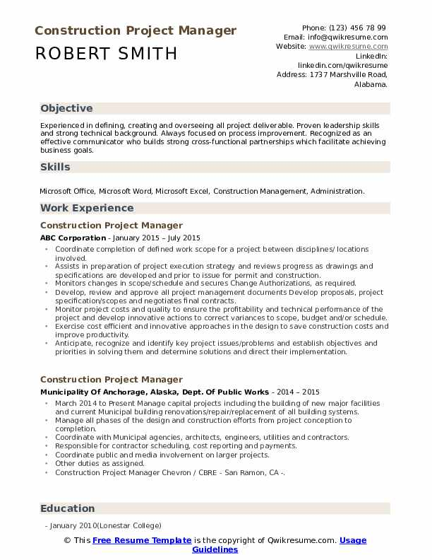 construction project manager resume samples qwikresume examples pdf headline or summary Resume Construction Project Manager Resume Examples