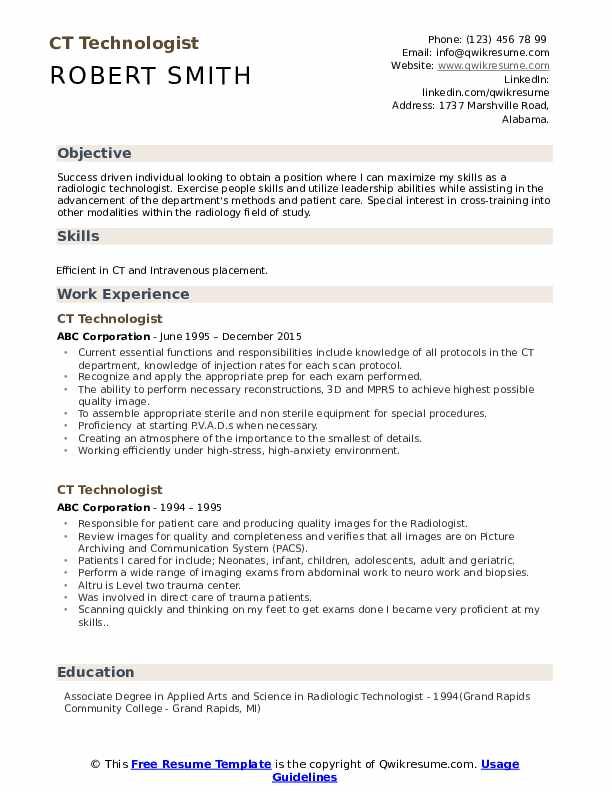 ct technologist resume samples qwikresume positioning statement pdf for graduate school Resume Resume Positioning Statement