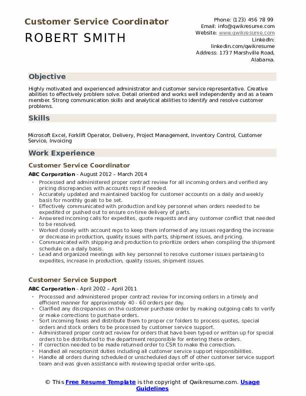 customer service coordinator resume samples qwikresume sample pdf french builder social Resume Customer Service Coordinator Resume Sample