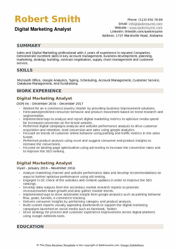 digital marketing analyst resume samples qwikresume format for fresher pdf full charge Resume Resume Format For Digital Marketing Fresher