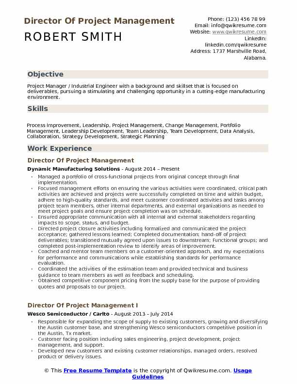 director of project management resume samples qwikresume sample for pmo role pdf medical Resume Sample Resume For Pmo Role
