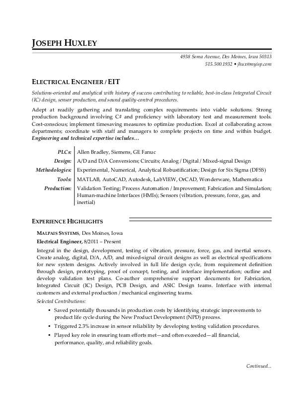 electrical engineer resume sample monster entry level free evaluation first time employee Resume Entry Level Electrical Engineer Sample Resume