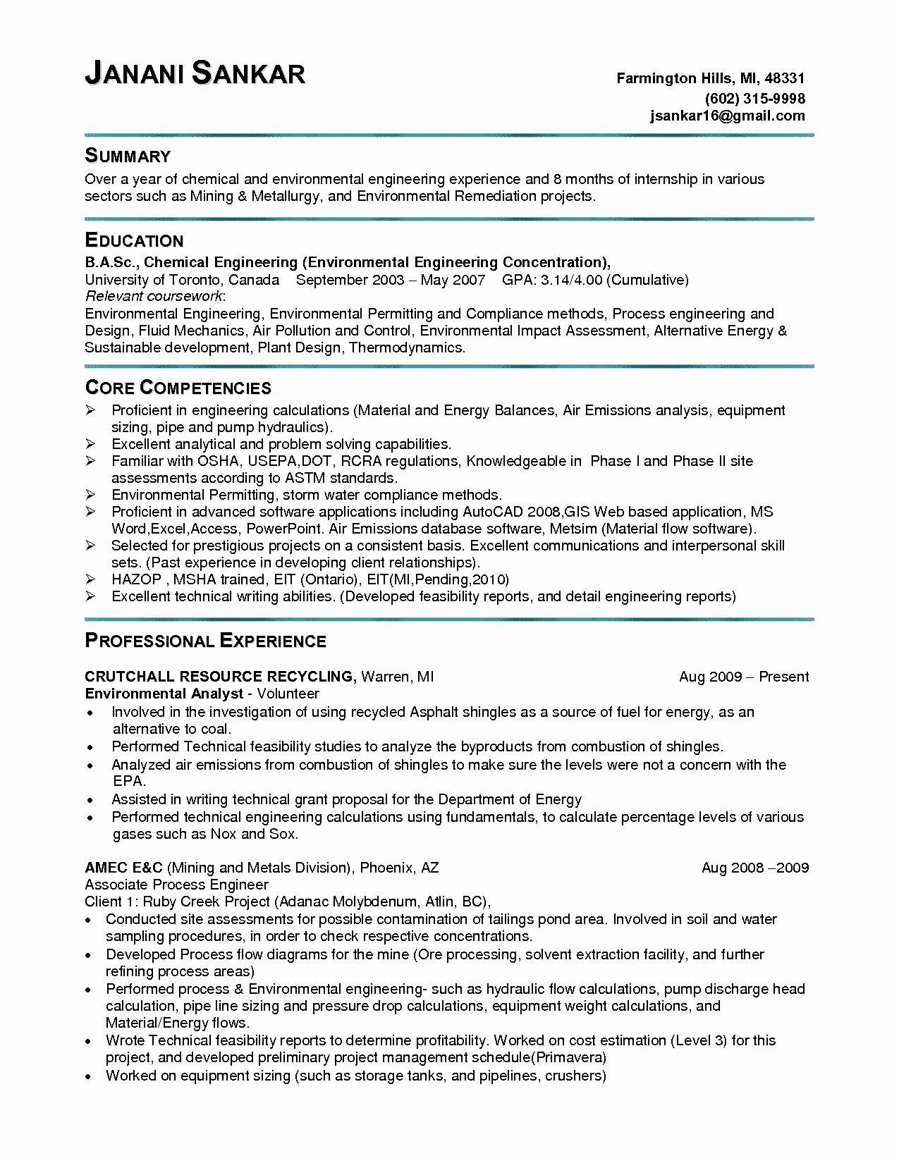 entry level electrical engineer resume inspirational engineering student free production Resume Entry Level Electrical Engineer Sample Resume