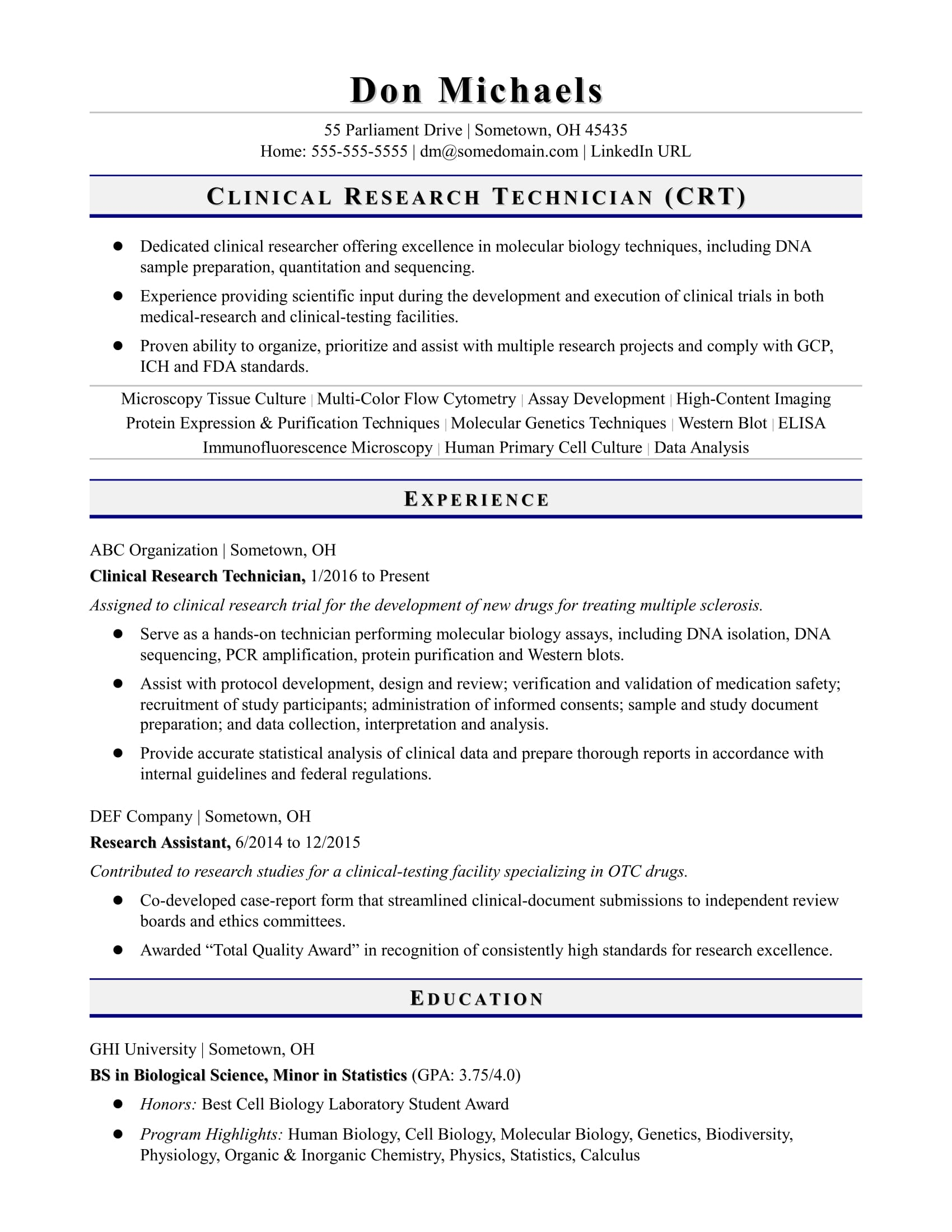 entry level research technician resume sample monster student assistant summary for Resume Student Research Assistant Resume
