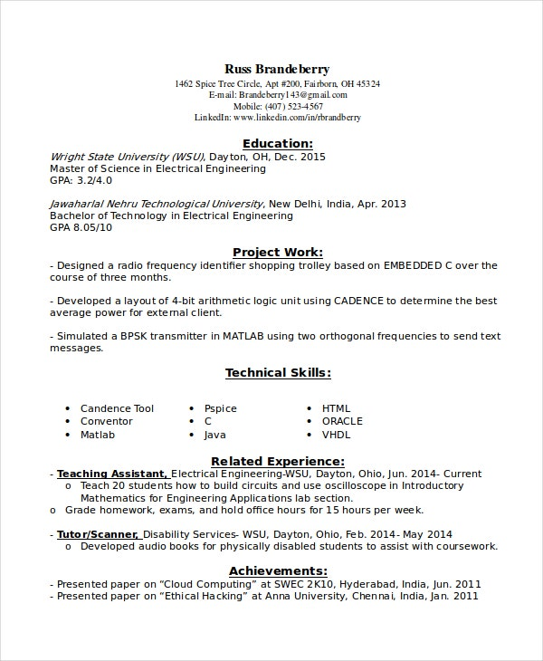 entry level resume examples pdf free premium templates rf engineer sample for electrical Resume Entry Level Electrical Engineer Sample Resume