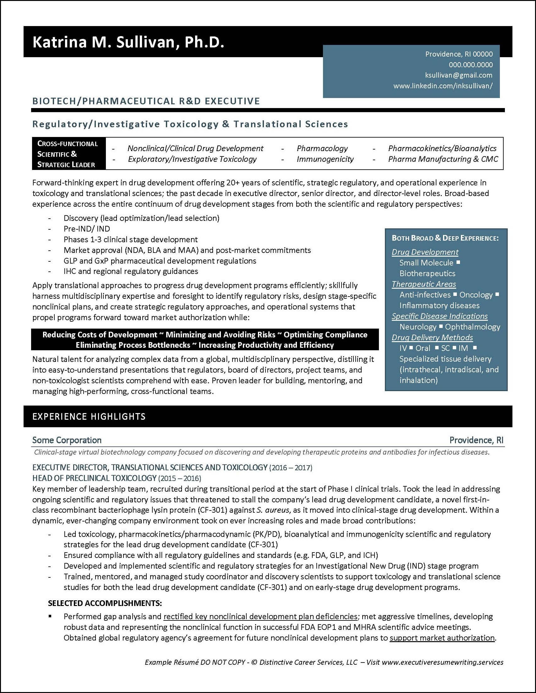 example executive resume biotech pharmaceutical best biotechnology after skills for Resume Best Biotechnology Resume