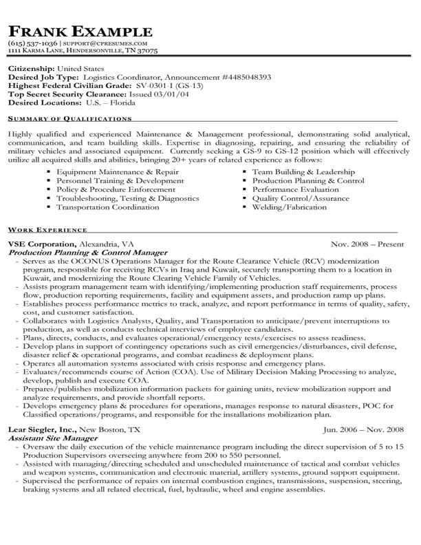 example of federal government resume best format job cover letter for pet care sample Resume Government Resume Format