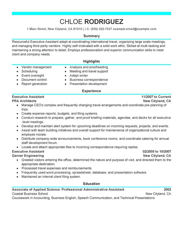 executive assistant resume discoveries admin summary examples administration and office Resume Admin Assistant Resume Summary Examples