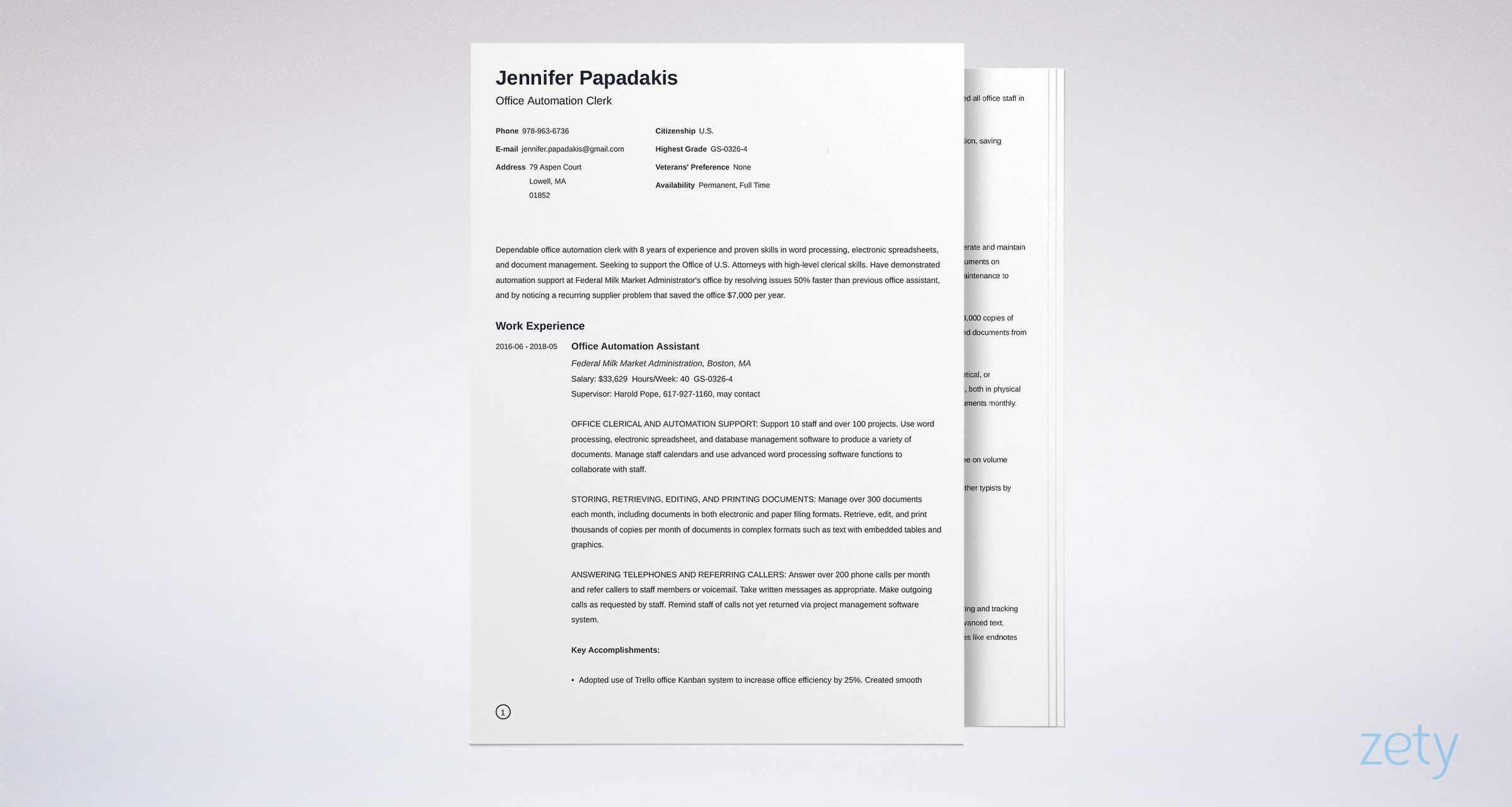 federal resume template format examples government example senior medical assistant Resume Government Resume Format