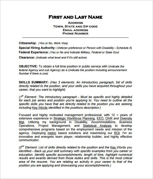 federal resume template free word excel pdf format premium templates government style Resume Government Resume Format