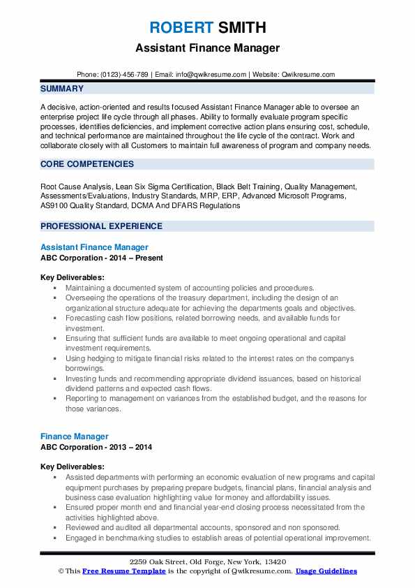 finance manager resume samples qwikresume summary pdf general description making the Resume Finance Manager Resume Summary