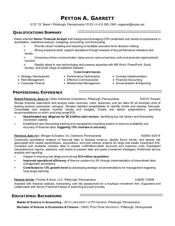 financial analyst resume sample monster finance manager summary skills and achievements Resume Finance Manager Resume Summary