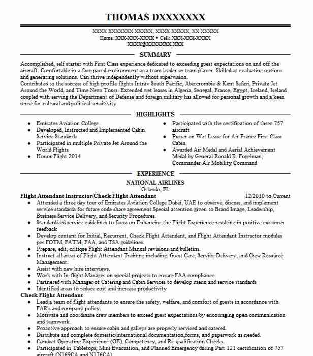flight attendant resume example company name cypress objective entry level teacher sample Resume Objective Flight Attendant Resume