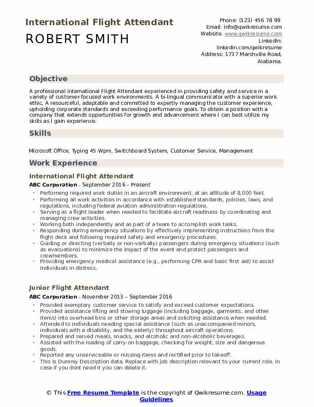 flight attendant resume samples qwikresume objective pdf personal projects on sample for Resume Objective Flight Attendant Resume
