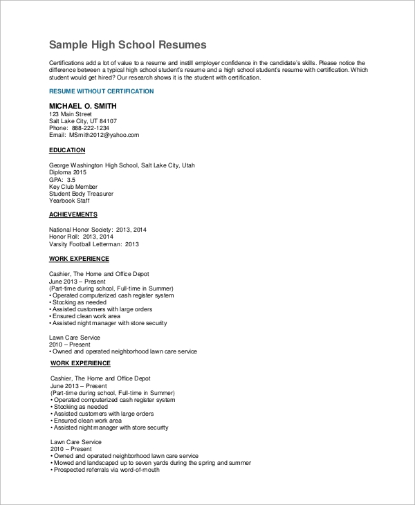 free high school resume samples in ms word pdf skills for experienced student example Resume Skills For High School Resume