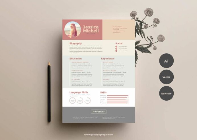 free resume templates for to now illustrator template creative photographer lmft Resume Free Resume Illustrator Template