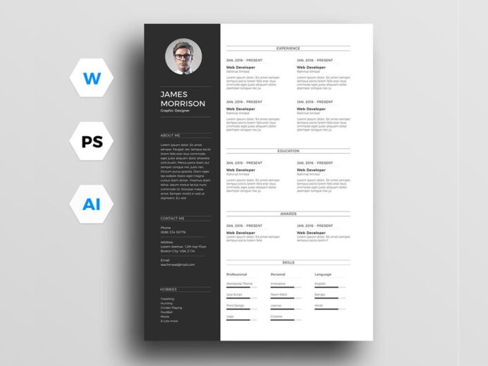 free resume templates in illustrator format creativebooster template 1024x1024 sdr loss Resume Free Resume Illustrator Template