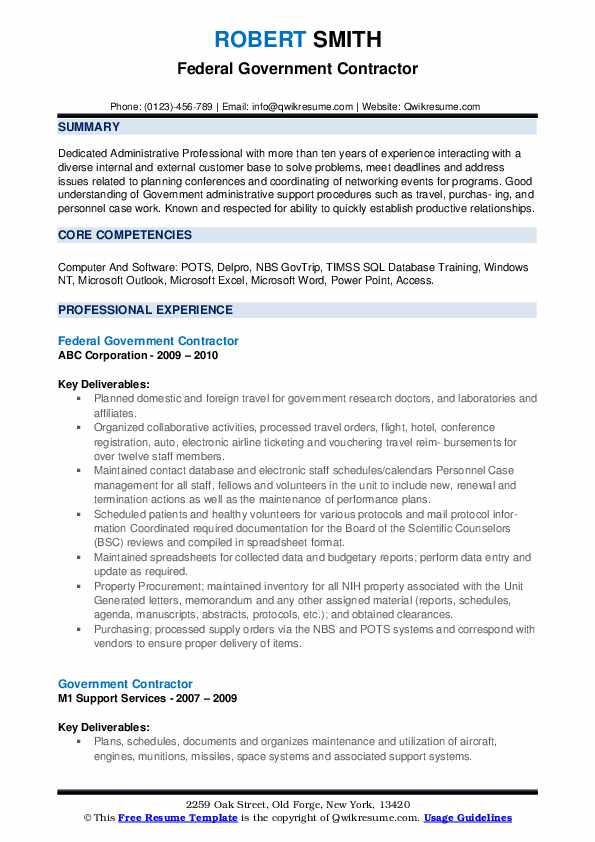 government contractor resume samples qwikresume format pdf cocktail server senior medical Resume Government Resume Format
