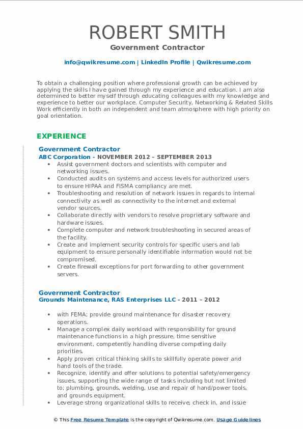government contractor resume samples qwikresume format pdf experienced chartered Resume Government Resume Format