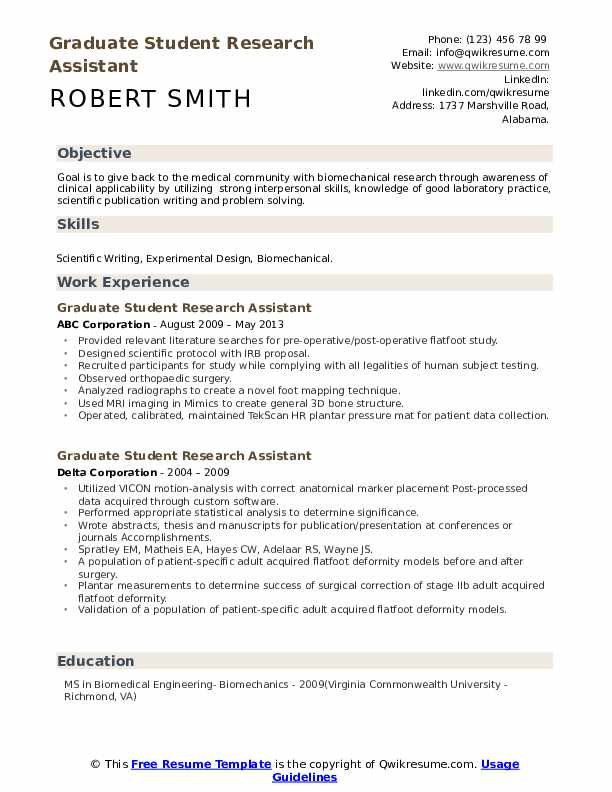 graduate student research assistant resume samples qwikresume pdf chronological template Resume Student Research Assistant Resume