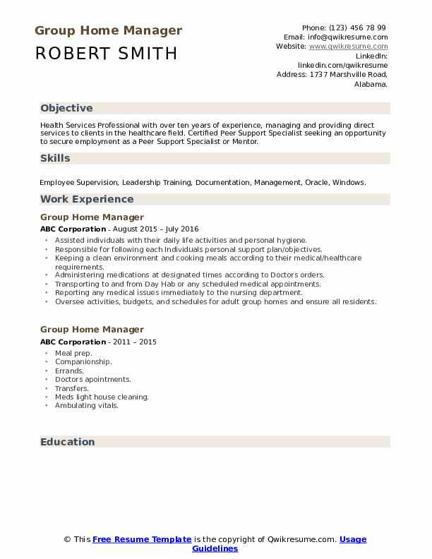 group home manager resume samples qwikresume work from objective pdf get help making for Resume Work From Home Resume Objective