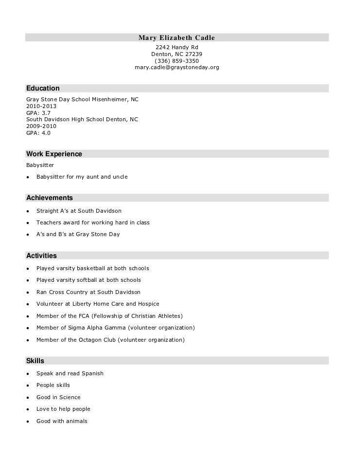 high school resume skills for hotel bartender lesson mit mba business clear folder common Resume Skills For High School Resume