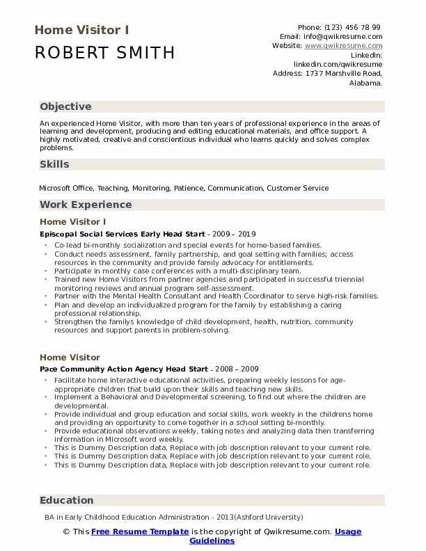 home visitor resume samples qwikresume work from objective pdf paper for interview best Resume Work From Home Resume Objective