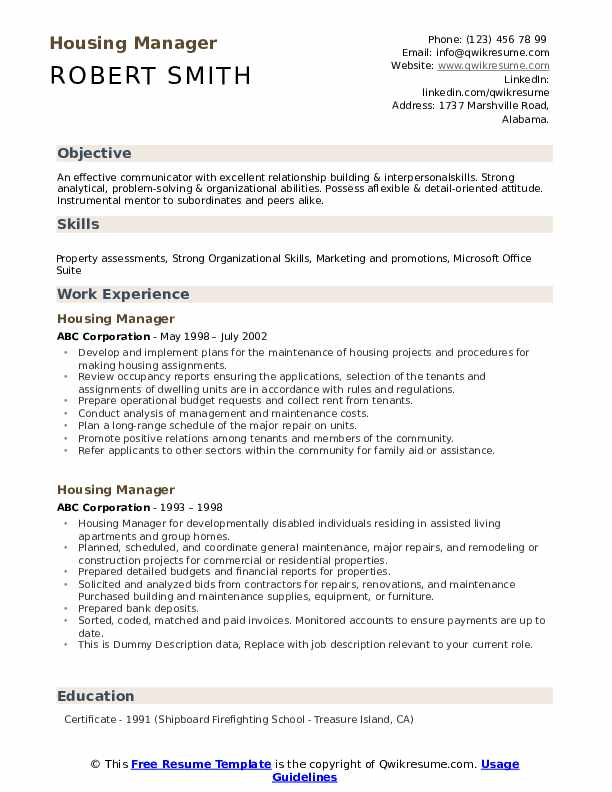 housing manager resume samples qwikresume affordable property pdf third mate lil tjay Resume Affordable Housing Property Manager Resume